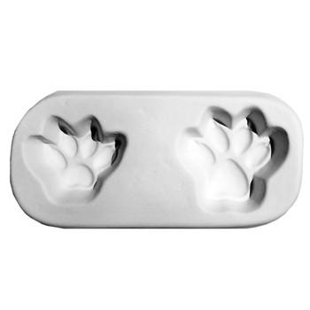 Cat Paw Print Frit Cast Mold