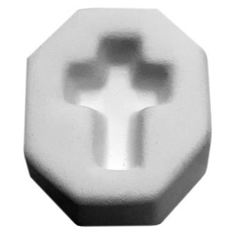 Cross Pendant Frit Cast Mold, SKU 412GF-935G