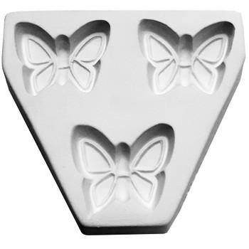 Butterfly Triple Pendants Frit Cast Mold, SKU 412GF-7017