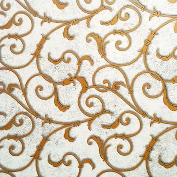 Gold Flourish  Enamel Mica Decal Fused Glass or Ceramic Waterslide