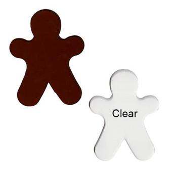 Precut Gingerbread Man Large COE96 Clear or Amber