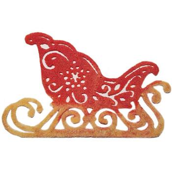 COE96 Precut Glass Santa Sleigh Wafer Christmas Ornament (96817)