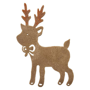 COE96 fusible Precut Glass Baby Rudolph Reindeer Christmas Wafer (96818)