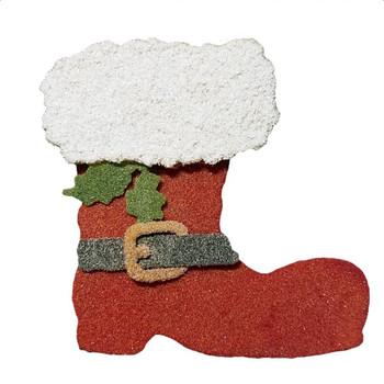 COE96 Precut Fusible  Glass Santa Boot Wafer Christmas Ornament (96800-Boot)