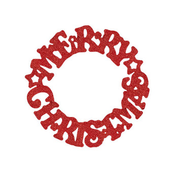 COE96 Precut Glass Merry Christmas Wafer Round Ornament (96778)