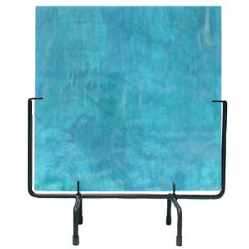 Art Glass Display Stand Square Black Wrought Iron 10 inch