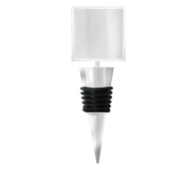 Bottle Stopper Square Blank for Fused Glass Glue-on Pad