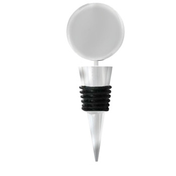Bottle Stopper Round Blank for Fused Glass Glue-on Pad