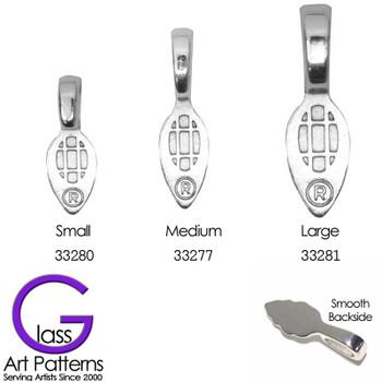 Aanaraku Leaf Bail 3 Sizes for Glue on fused glass pendants