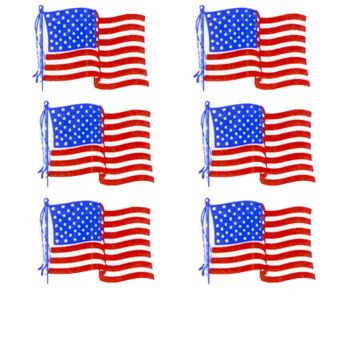 American Flag Decals Small Fused Glass Decal