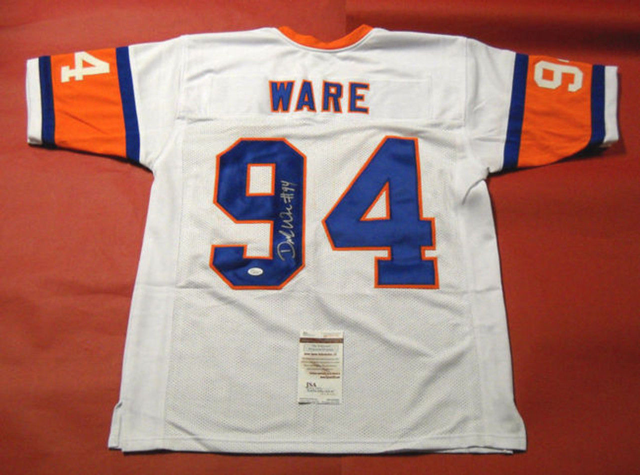 buy popular 10e70 fb67a DEMARCUS WARE AUTOGRAPHED DENVER BRONCOS W 75TH THROWBACK JERSEY JSA