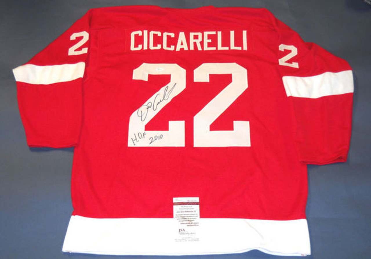 d05ff93f5 DINO CICCARELLI AUTOGRAPHED DETROIT RED WINGS JERSEY JSA - All American  Sports House