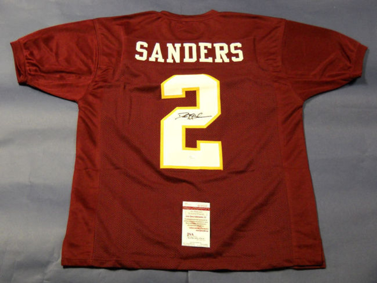 uk availability 68488 00aa8 DEION SANDERS AUTOGRAPHED FSU FLORIDA STATE SEMINOLES JERSEY JSA PRIME TIME