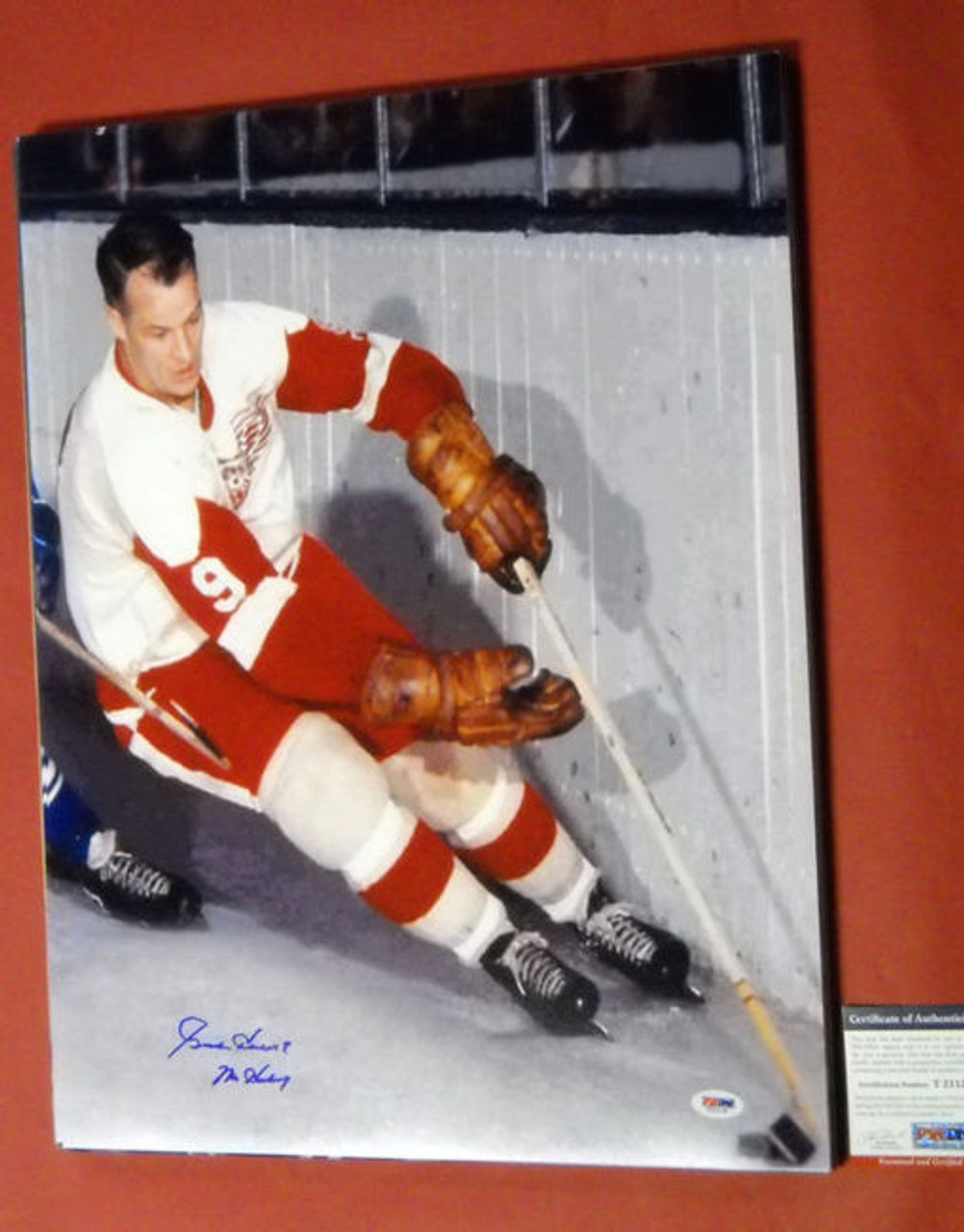 59cfd0bd88e gordie howe autographed 16x20 photo detroit red wings psa/dna mr ...