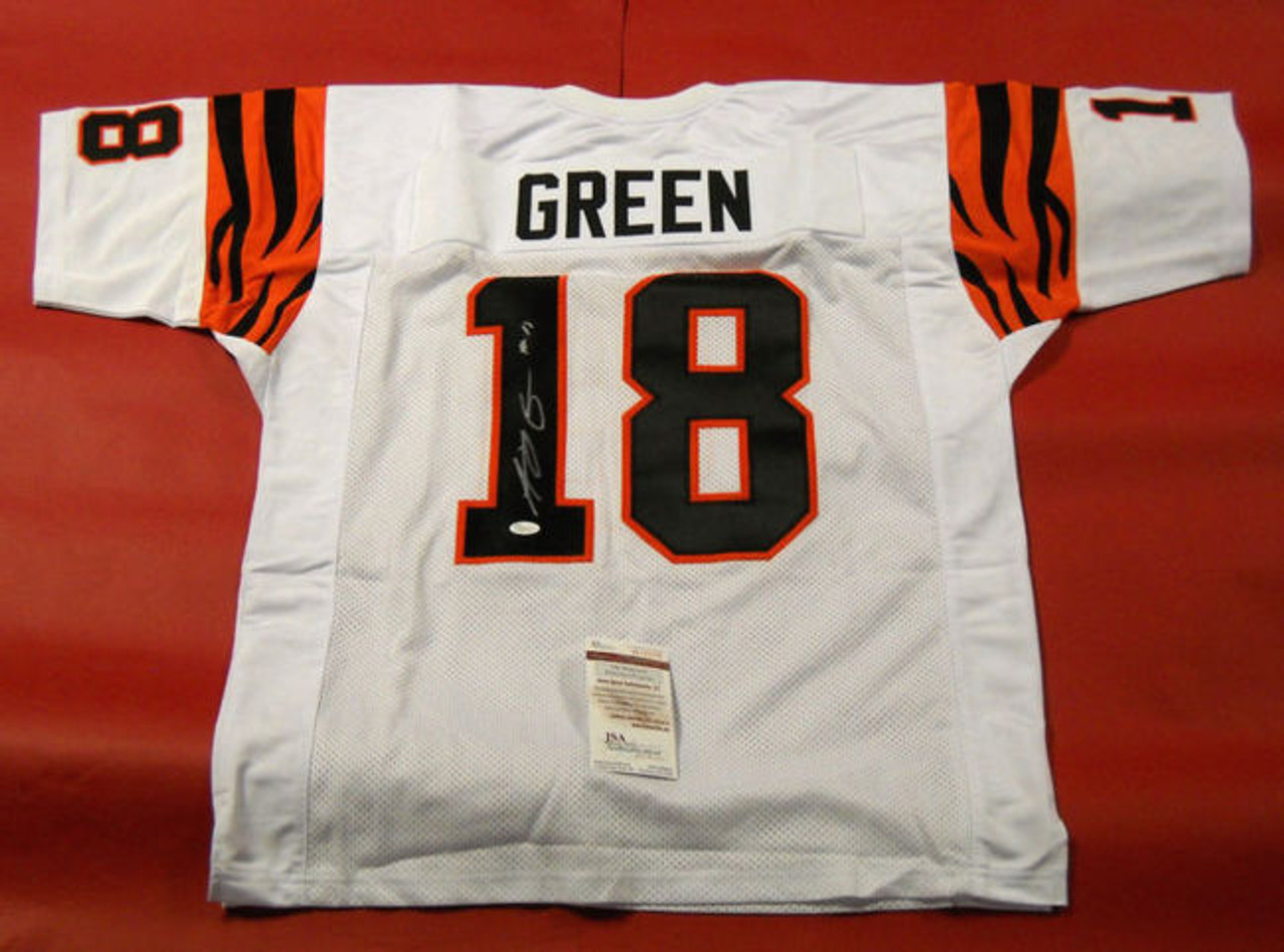 28b13f96c A J GREEN AUTOGRAPHED CINCINNATI BENGALS THROWBACK JERSEY JSA - All  American Sports House