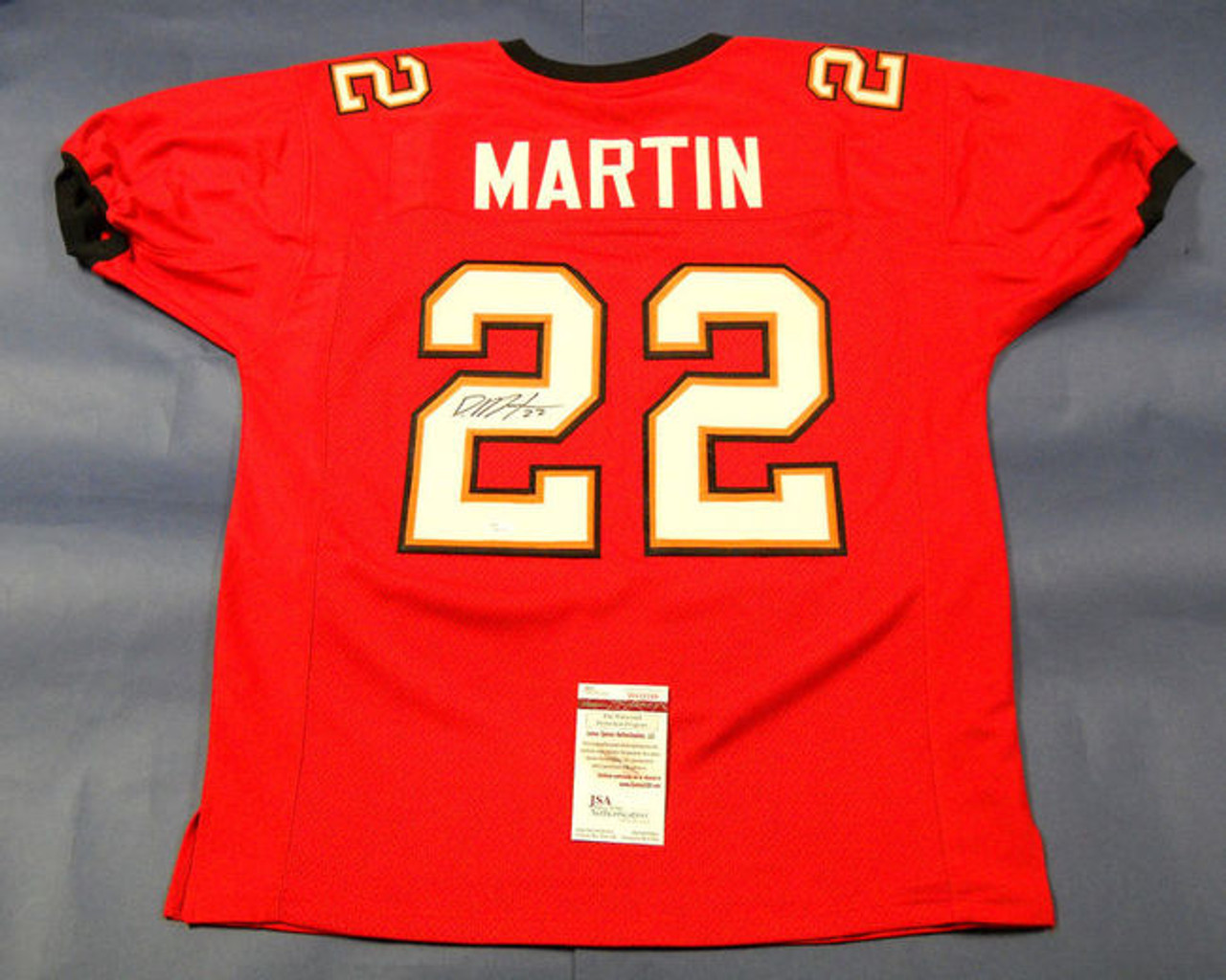 quality design 9d040 9a538 DOUG MARTIN AUTOGRAPHED TAMPA BAY BUCCANEERS JERSEY JSA