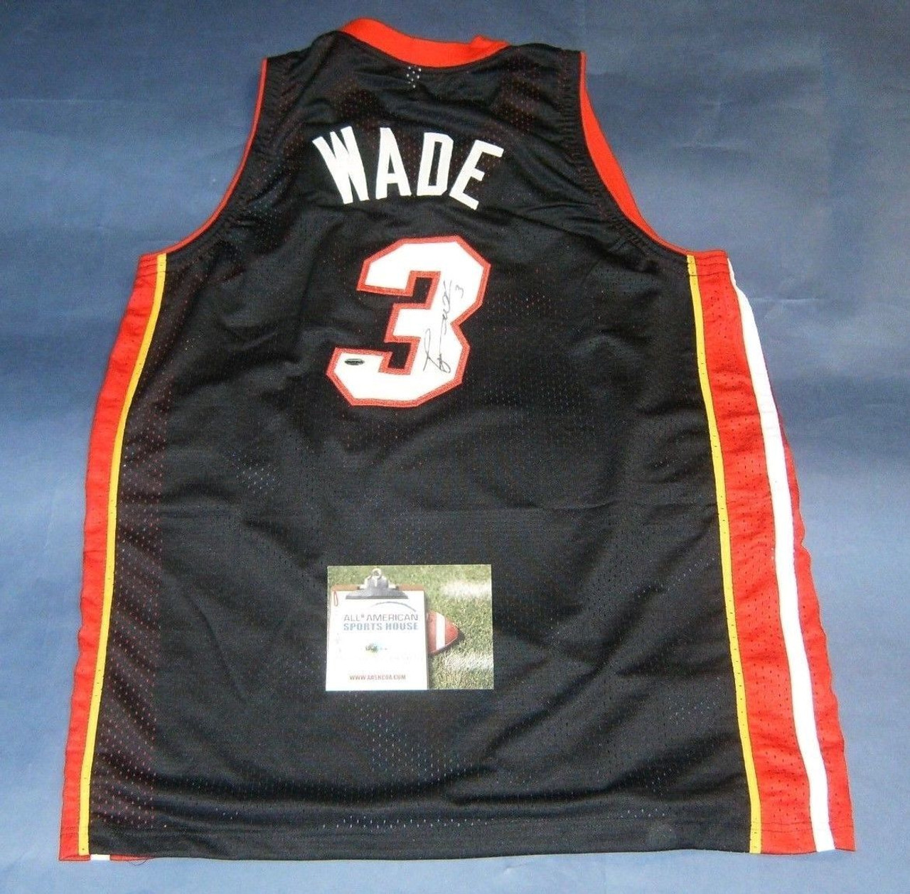 new arrival abe0e a935a DWYANE WADE AUTOGRAPHED MIAMI HEAT JERSEY AASH