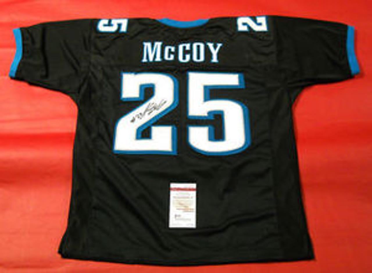 LeSean McCoy AUTOGRAPHED PHILADELPHIA EAGLES BLACK JERSEY JSA