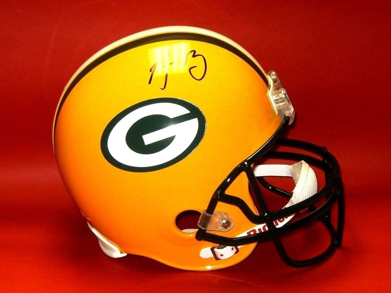 e6e32a13c Autographed Aaron Rodgers Full Sized Green Bay Packers Riddell ...
