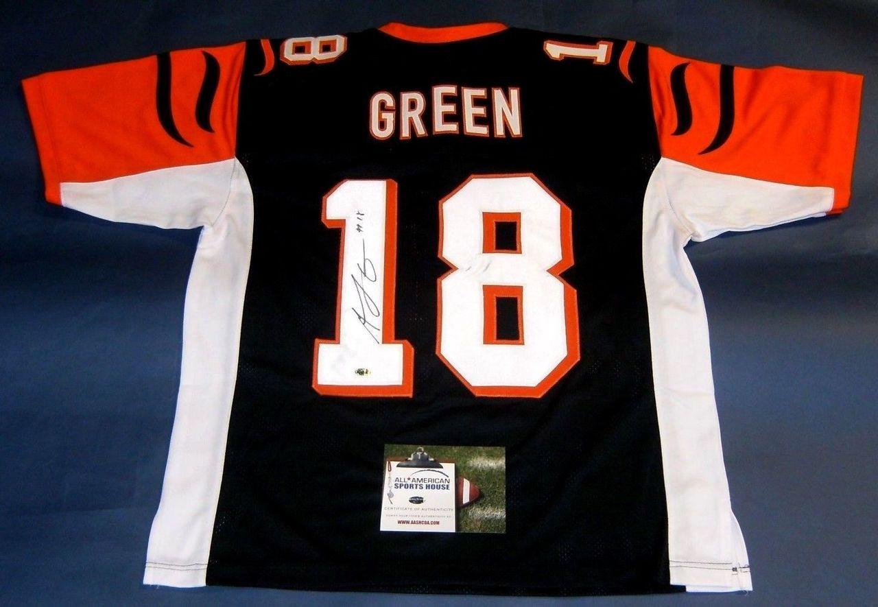 912ce2757ec Autographed A. J. Green Custom Style Cincinnati Bengals Jersey. A.J. ...