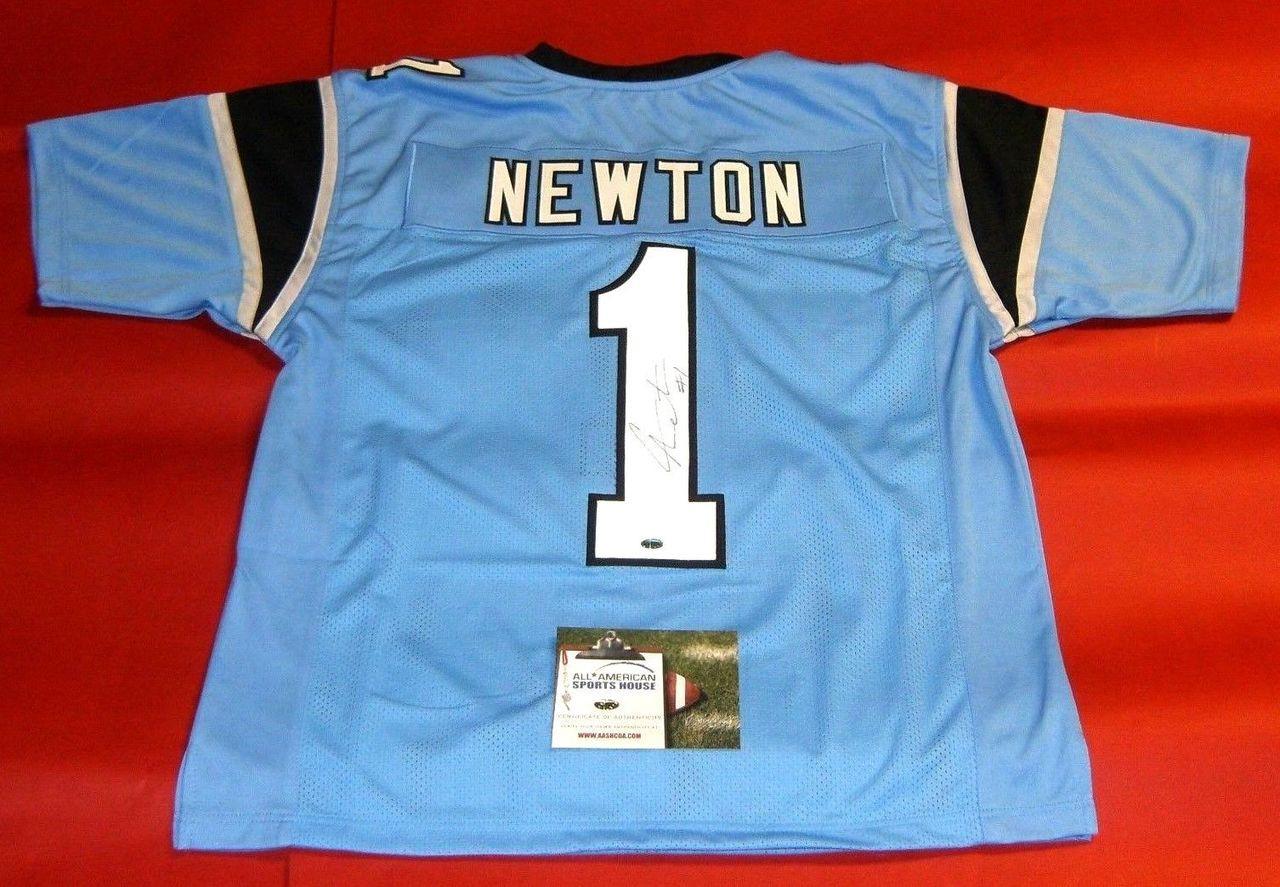 sale retailer 49955 72593 cam newton autographed panthers jersey