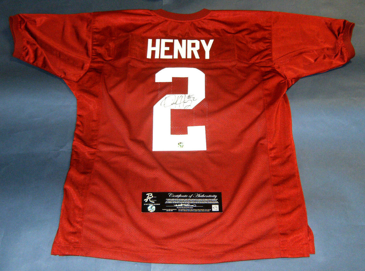 cheap for discount 645f9 211ea DERRICK HENRY AUTOGRAPHED ALABAMA CRIMSON TIDE JERSEY 2015 HEISMAN BAMA AUTH