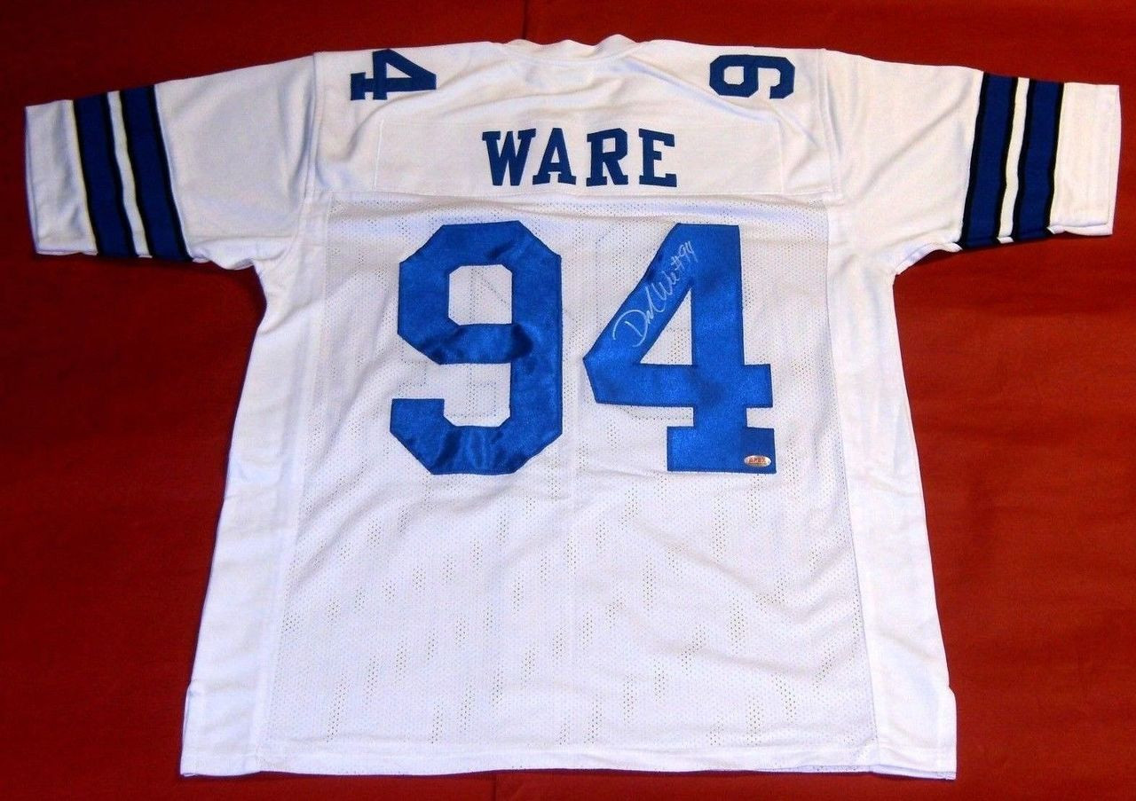 brand new 9467a ce216 DEMARCUS WARE AUTOGRAPHED DALLAS COWBOYS JERSEY APEX LAST ONE