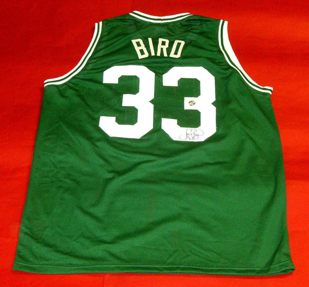 brand new 77f2e 5d4d0 LARRY BIRD AUTOGRAPHED BOSTON CELTICS JERSEY BIRD AUTHENTICATED HOLOGRAM