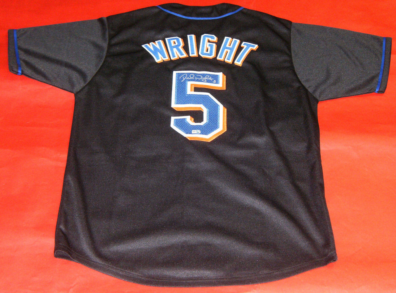 save off f5128 d86b1 DAVID WRIGHT AUTOGRAPHED NEW YORK METS JERSEY MLB AUTHENTIC