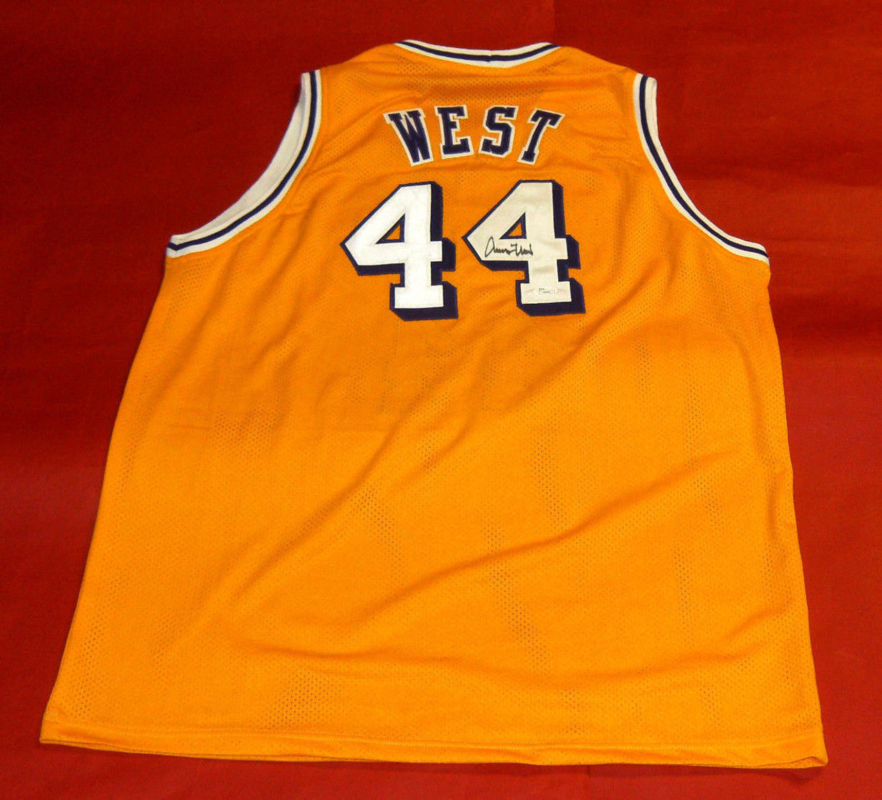 premium selection 025a3 4830a JERRY WEST AUTOGRAPHED LOS ANGELES LAKERS JERSEY JSA