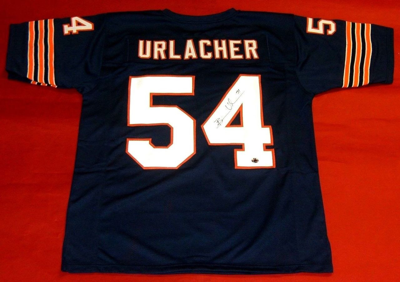 separation shoes aa5af ad7fe BRIAN URLACHER AUTOGRAPHED CHICAGO BEARS JERSEY BU AUTHENTICS HOLOGRAM HOF  2018