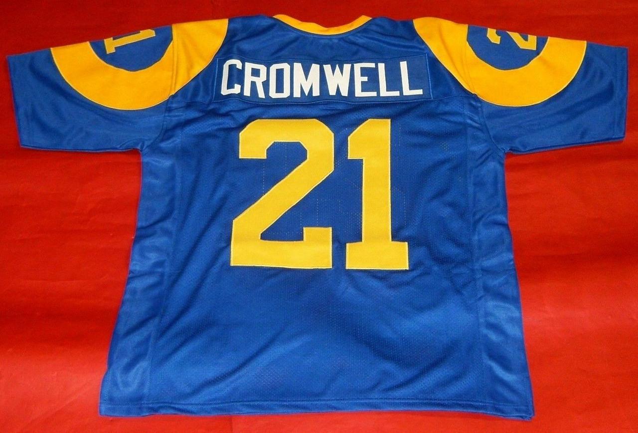 NOLAN CROMWELL CUSTOM LOS ANGELES RAMS THROWBACK JERSEY LAST ONE
