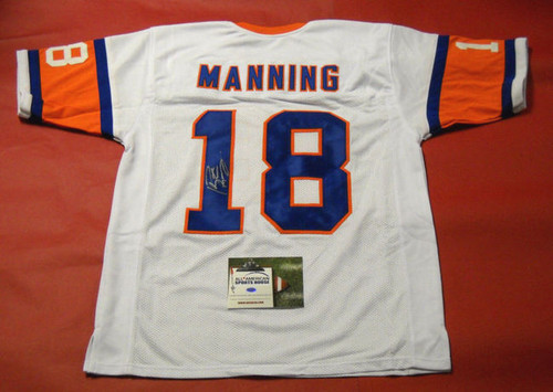 PEYTON MANNING AUTOGRAPHED 75TH THROWBACK DENVER BRONCOS W JERSEY AASH