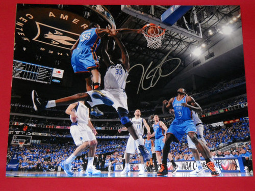 KEVIN DURANT AUTOGRAPHED OKLAHOMA CITY THUNDER 16X20 PHOTO AASH