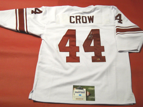 JOHN DAVID CROW AUTOGRAPHED TEXAS A&M AGGIES JERSEY 1957 HEISMAN AASH READ NOTE