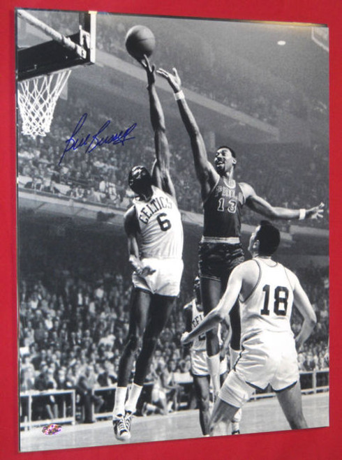 BILL RUSSELL AUTOGRAPHED BOSTON CELTICS 16X20 PHOTO RAHC HOLO WILT CHAMBERLAIN