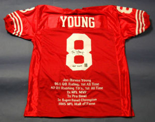 low priced 33f85 08e74 STEVE YOUNG CUSTOM SAN FRANCISCO 49ERS JERSEY