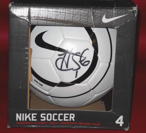 HOPE SOLO AUTOGRAPHED NIKE SOCCER BALL TEAM USA GOALIE JSA FOOTBALL