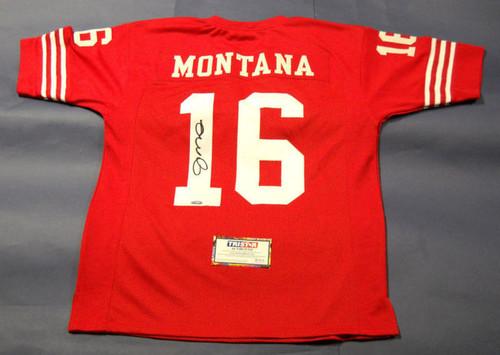 JOE MONTANA AUTOGRAPHED SAN FRANCISCO 49ERS JERSEY TRISTAR