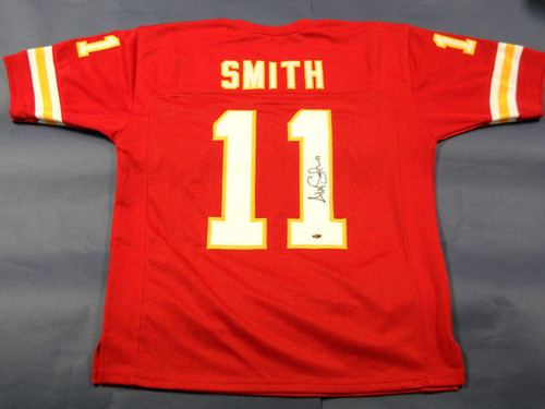 ALEX SMITH AUTOGRAPHED KANSAS CITY CHIEFS JERSEY AASH