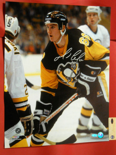 MARIO LEMIEUX AUTOGRAPHED PITTSBURGH PENGUINS 16X20 PHOTO FIRST GAME HOF STEINER
