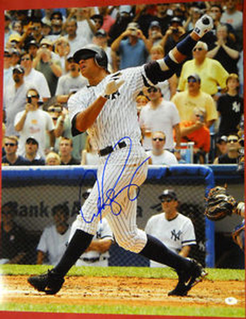 ALEX RODRIGUEZ AUTOGRAPHED NEW YORK YANKEES 16X20 PHOTO AROD LAST ONE
