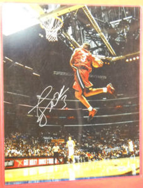 DWYANE WADE AUTOGRAPHED MIAMI HEAT ALL STAR DUNK 16X20 PHOTO AASH