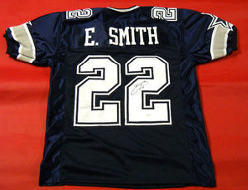 EMMITT SMITH AUTOGRAPHED DALLAS COWBOYS DOUBLE STAR JERSEY JSA 9be8bb228