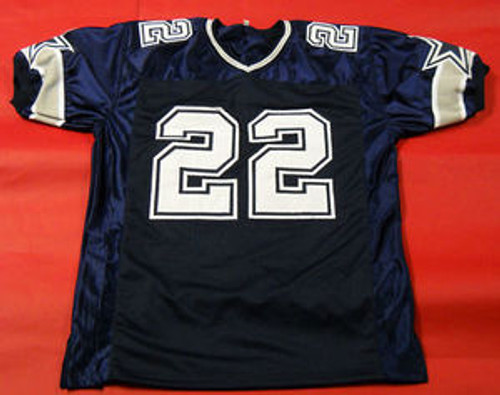quality design f7ae4 bf5b0 EMMITT SMITH AUTOGRAPHED DALLAS COWBOYS DOUBLE STAR JERSEY JSA