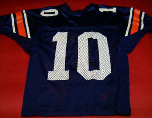 buy online 0dce8 d6aae AUBURN TIGERS GAME WORN FOOTBALL JERSEY CAM NEWTON BO