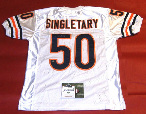 MIKE SINGLETARY AUTOGRAPHED CHICAGO BEARS W JERSEY AASH