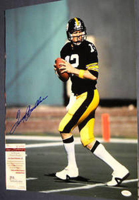 AUTOGRAPHED TERRY BRADSHAW PITTSBURGH STEELERS 16X20 PHOTO JSA