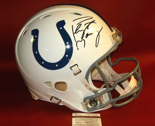 PEYTON MANNING AUTOGRAPHED INDIANAPOLIS COLTS FS AUTHENTIC REVOLUTION HELMET JSA