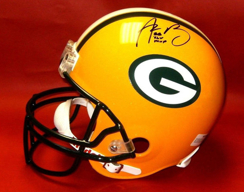 083baba3a AARON RODGERS AUTOGRAPHED GREEN BAY PACKERS FS HELMET SUPER BOWL XLV MVP L  AASH ...